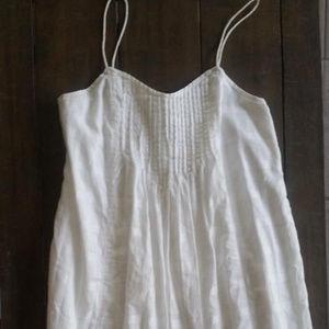 Flowy White J Crew Dress NWOT 4 6 8